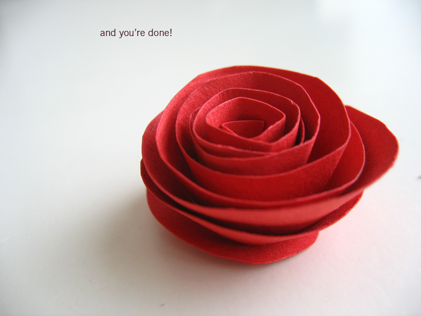 Final result of a how to make a paper flower instruction from here