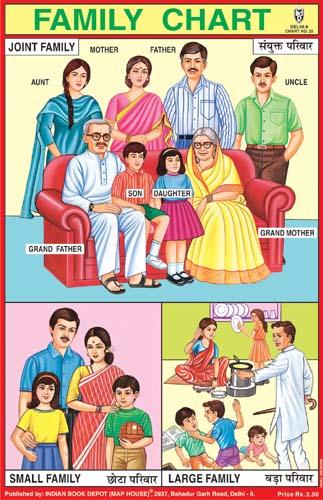 """Family Chart Joint Family"" Gráfico da Família de uma família conjunta"