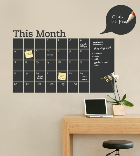 whats new chalkboard calendar