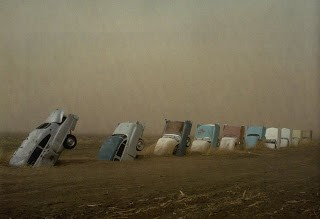 Ant Farm Cadillac Ranch 1974 Photographed 1977