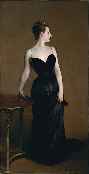 Portrait Sargeant Madame_X_(Madame_Pierre_Gautreau),_John_Singer_Sargent,_1884_(unfree_frame_crop)