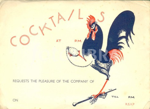 Invitation to a cocktail party circa 1925