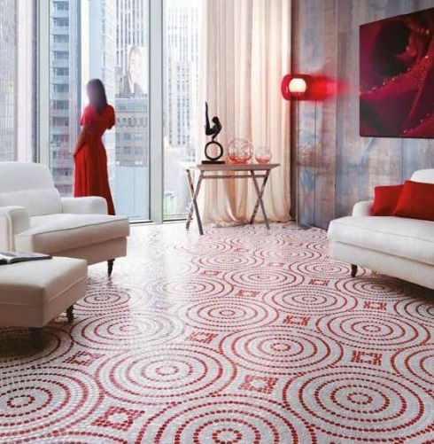 Floor Sicis-Neoglass-Wheels-Mosaic-Glaze-Crystal-Mosaic-Red-Crycle-Floor-Wall-font-b-tile-b-font