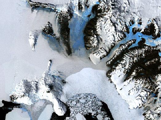 landsat image of antarctica