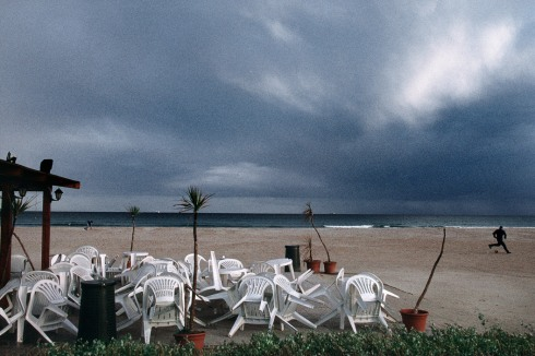 ITALY. Sardinia. Near the town of Cagliari. Poetto beach. 1998.