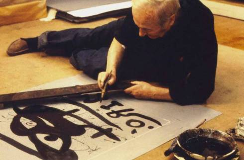 joan miro at work