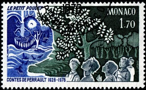 Stamp JumeletMonaco-1121-TomThumb-Perrault-MG-11-8-78-PLambert