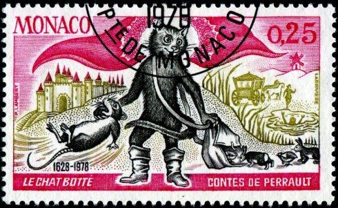 Stamp LarriviereMonaco-1116-PussBoots-Perrault-MG-11-8-78-PLambert